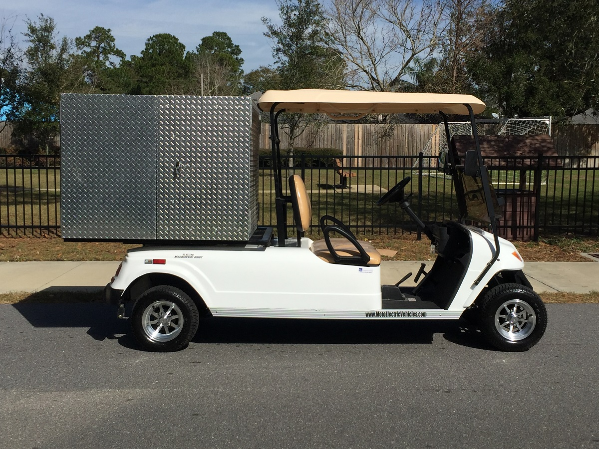 New Vehicle Release: MotoEV 2 Passenger Enclosed Utility Deluxe Golf Cart