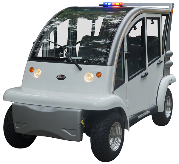 MotoEV Electro Bubble Buddy LSV 4 Passenger Police Hard Door