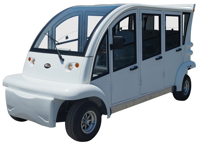 MotoEV Electro Bubble Buddy LSV 6 Passenger Forward Facing Hard Door