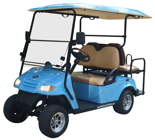 MotoEV 4 Passenger Golf Cart (Back to Back)- Non Street Legal