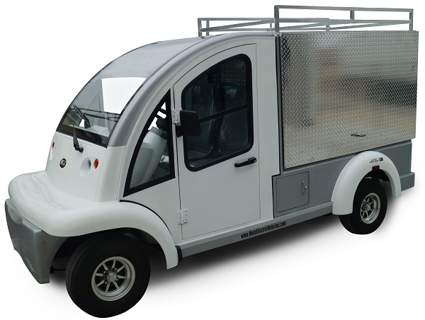 MotoEV Electro Bubble Buddy 2 Passenger Enclosed Utility Deluxe Hard Door
